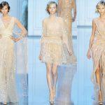 Свадебное платье для осени и бежевое вечернее платье