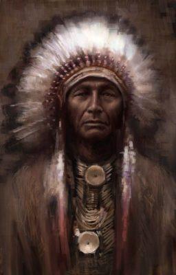 Индеец Северной Америки из племени ирокезов