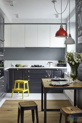 Кухня 3м х 3м в стиле модерн