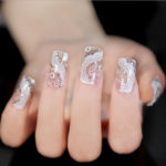 Дизайн ногтей кружевом